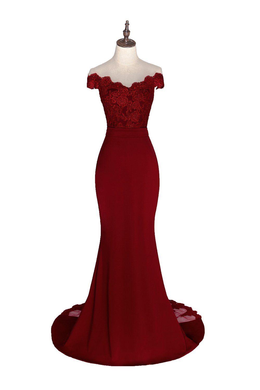 Honey qiao black lace mermaid bridesmaid dresses long prom party