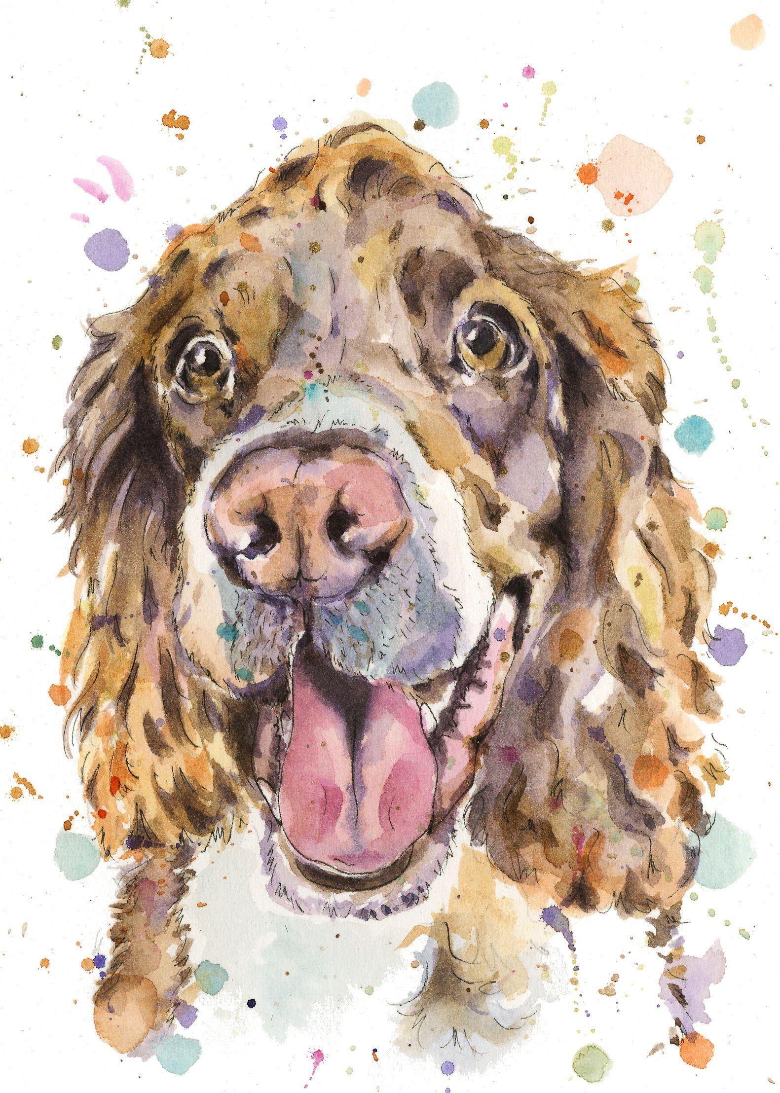 Watercolour Pet Portrait Paint My Pet Custom Pet Portrait