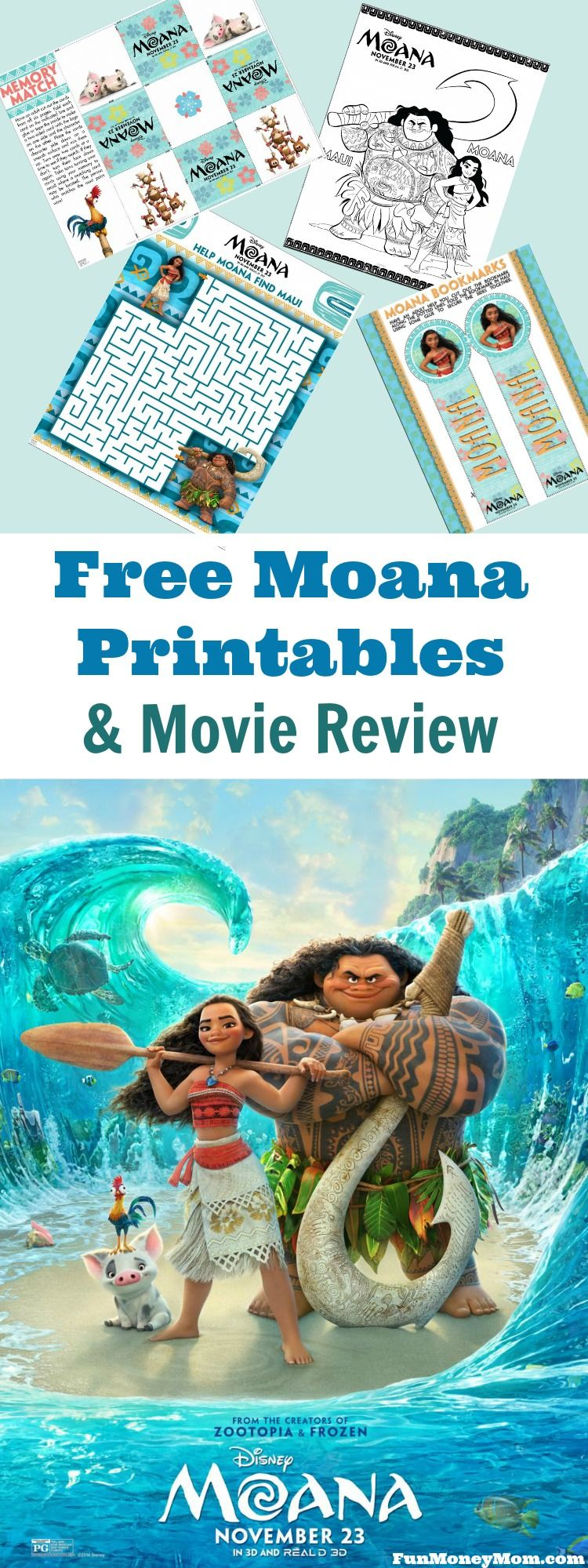 Free moana printables u movie review moana movie and gaming