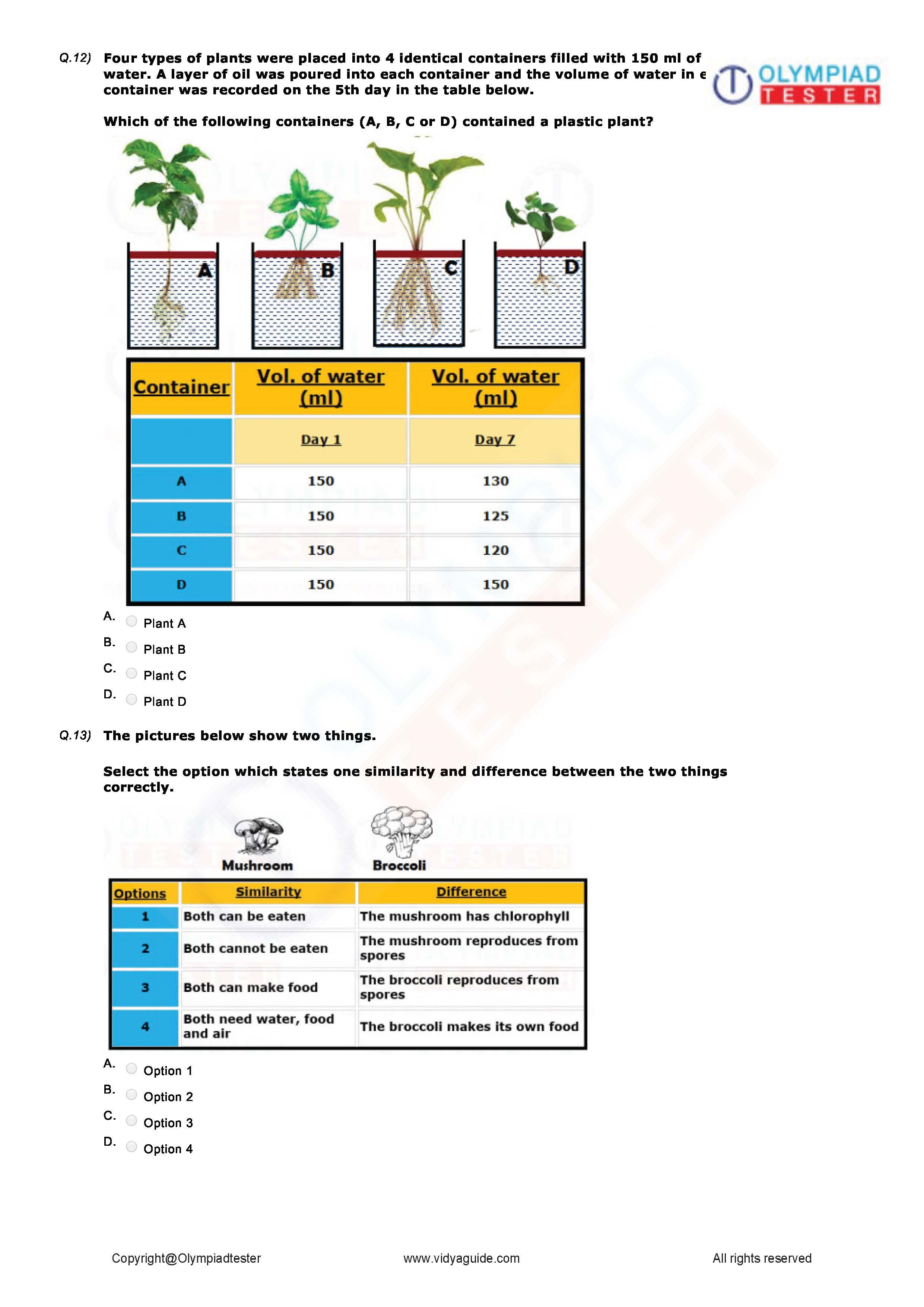 Download Class 3 Science Worksheet 01 To Excel At