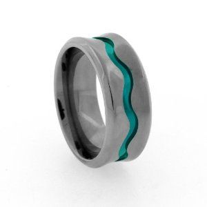 13 mens wedding bands with unexpected accents Offbeat bride