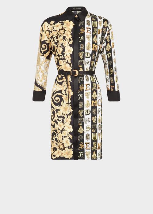 24133c3c6 Mixed Print Silk Twill Shirt Dress for Women | Online Store EU en ...