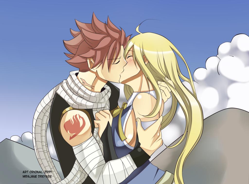 Natsu And Lucy Kiss Nalu Coppie Fairy Tail Coppie Anime Immagini