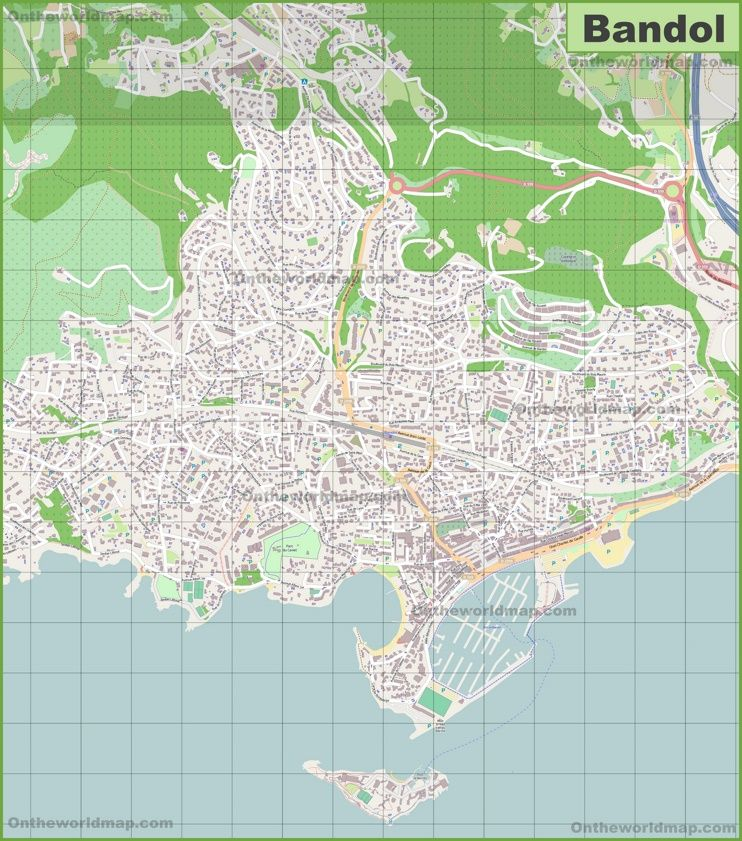 Large detailed map of Bandol Maps Pinterest France and City
