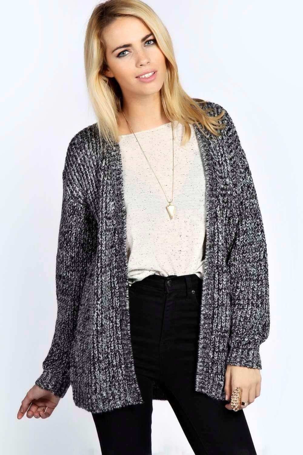 Isadora Edge To Edge Grungy Marl Knit Cardigan | Sweaters | Pinterest