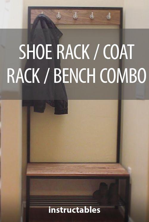 Shoe Rack Coat Rack Bench Combo Hall Tree Fun