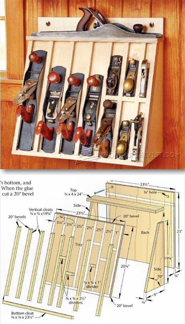 Hand Plane Rack Plans Workshop Solutions Projects Tips And Tricks