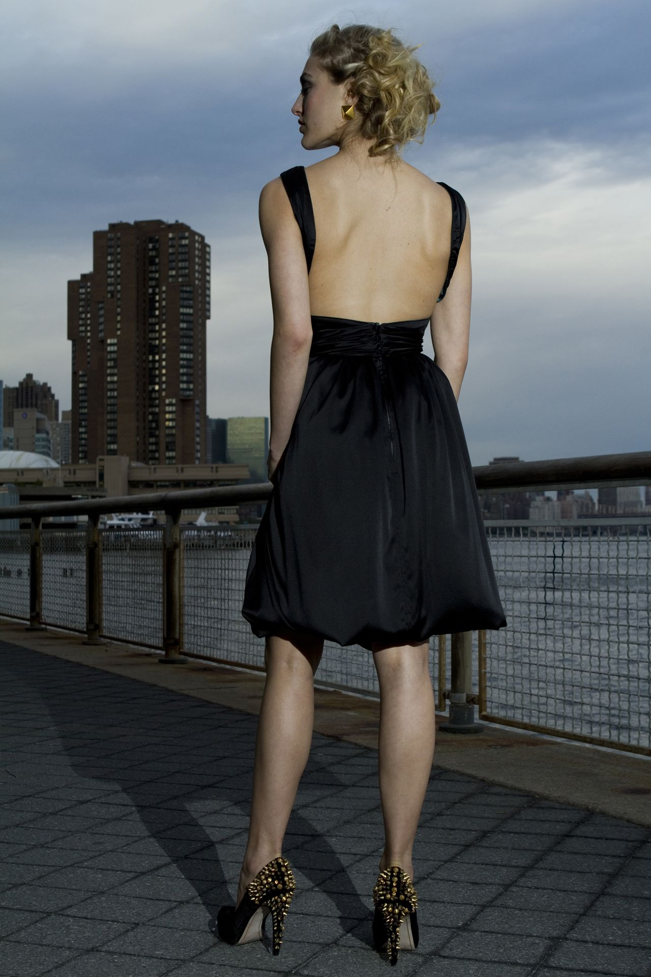 Backless bridesmaid dress that is sure to be a show stopper for your