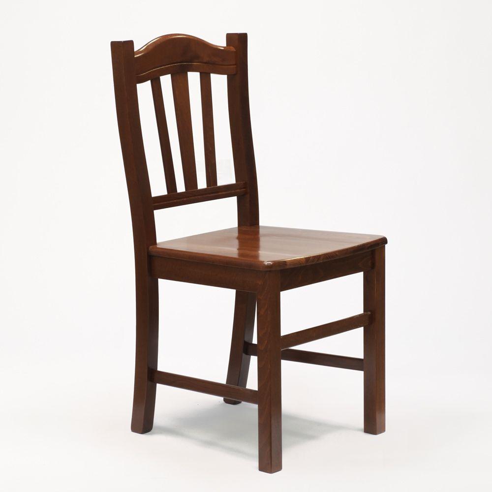 Sedia in legno in stile arte povera per sala da pranzo e ...