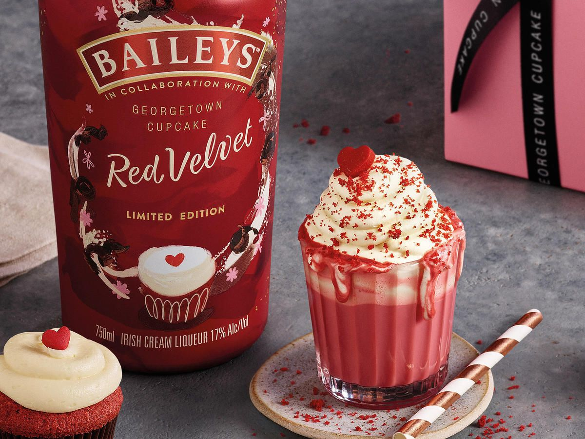 Baileys And Georgetown Cupcake Team Up To Make Red Velvet Coffee Liqueur Baileys Recipes Drinks Baileys Recipes Red Velvet Drink Recipe