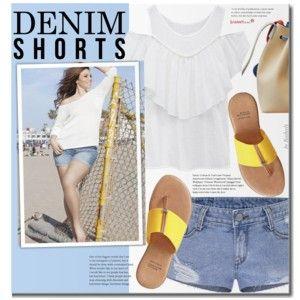 Denim Shorts (mais moda de tamanho)