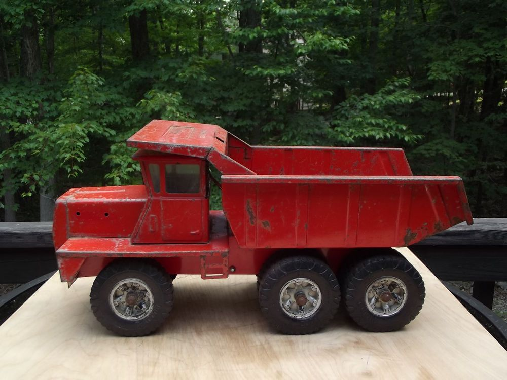Vintage Buddy L Hydraulic Dump Truck 10 Wheel Pressed Steel Dump Truck Toy Trucks Old Toys Tin Toys
