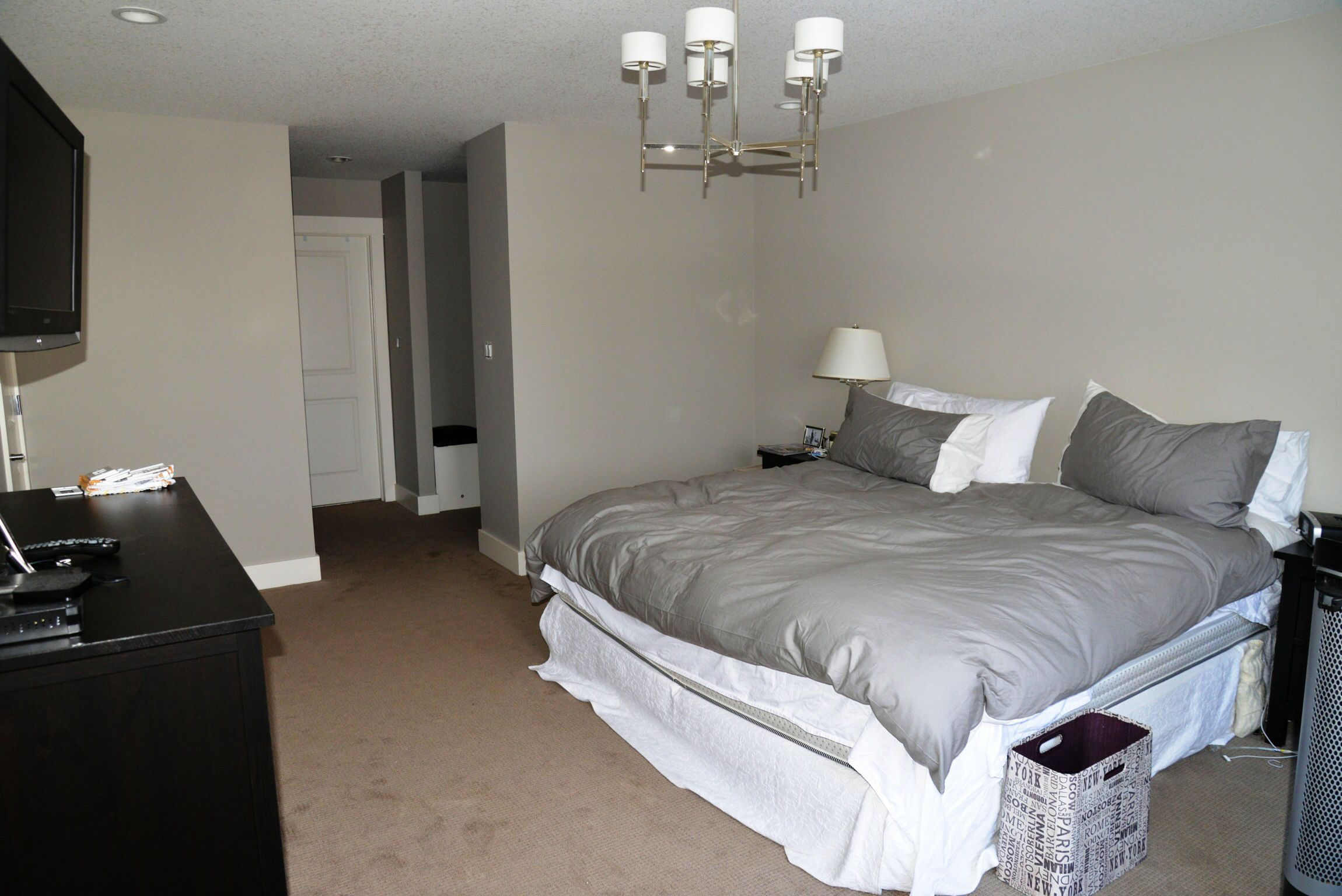 we gave this master bedroom a crisp new look with thunder