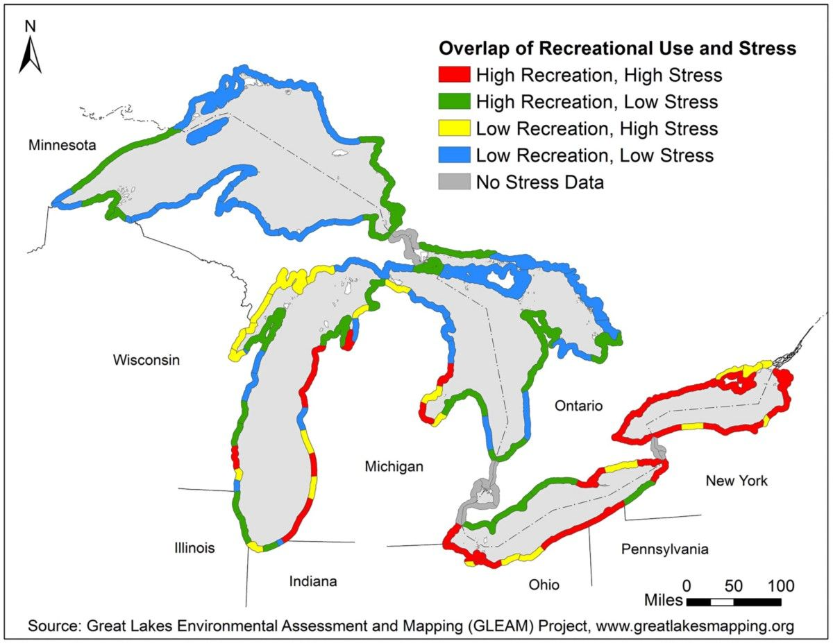 New, ultra-detailed maps of Great Lakes recreational use will inform restoration priorities — Medium
