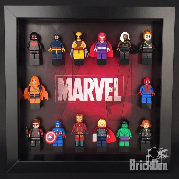 Lego Minifigures Display Case Picture Frame Marvel Superheroes  mini figures