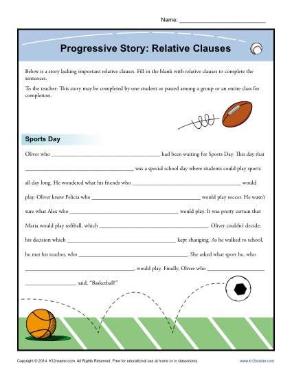 Progressive Story Relative Clause Worksheet There S A That I Lacking It Your Grammar Teaching Writing Paraphrase The First Sentence Of Tale Two Cities