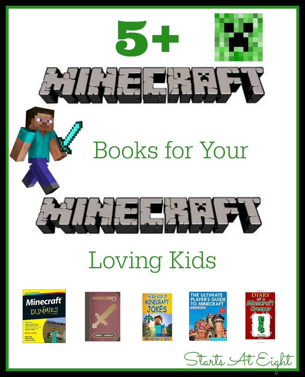5 minecraft books for your minecraft loving kid books