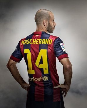 Camiseta Mascherano del Barcelona Primera 2014-2015 baratas