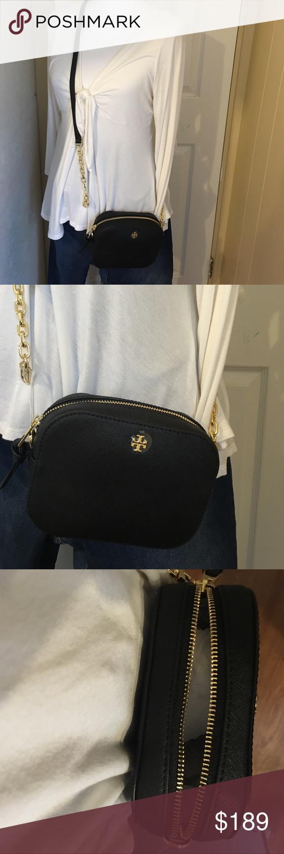 7174574b41b Tory Burch Robinson round crossbody bag Brand new crossbody bag. Black  color. Saffiano leather. Tory Burch Bags Crossbody Bags