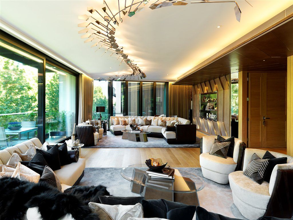 Go Inside The World S Most Expensive Apartment Building Where A Penthouse Just Sold For 237 Million One Hyde Park Luxury Living Room Lounge Design