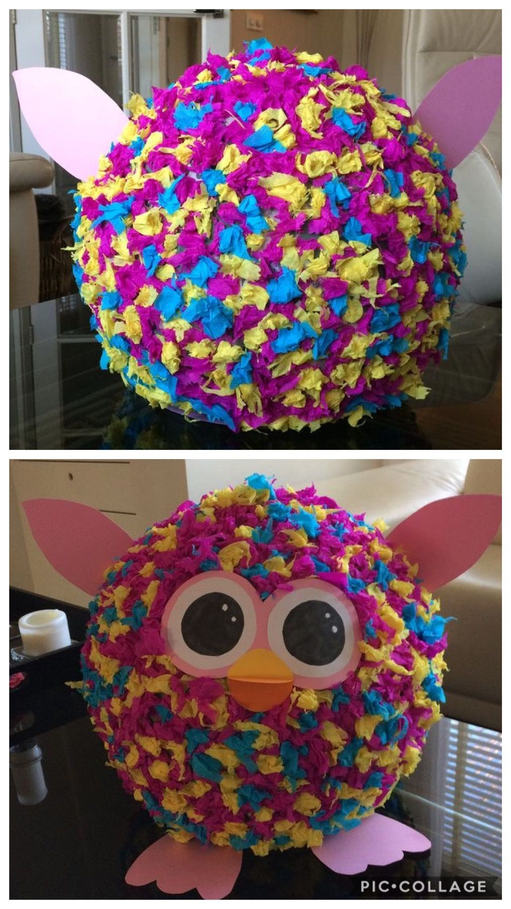 Surprise Furby Crepepapier Papieren Rozen Knutselen