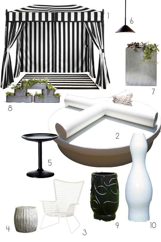 A Dramatic Modern Outdoor Living Room   Pinterest   Modern ...