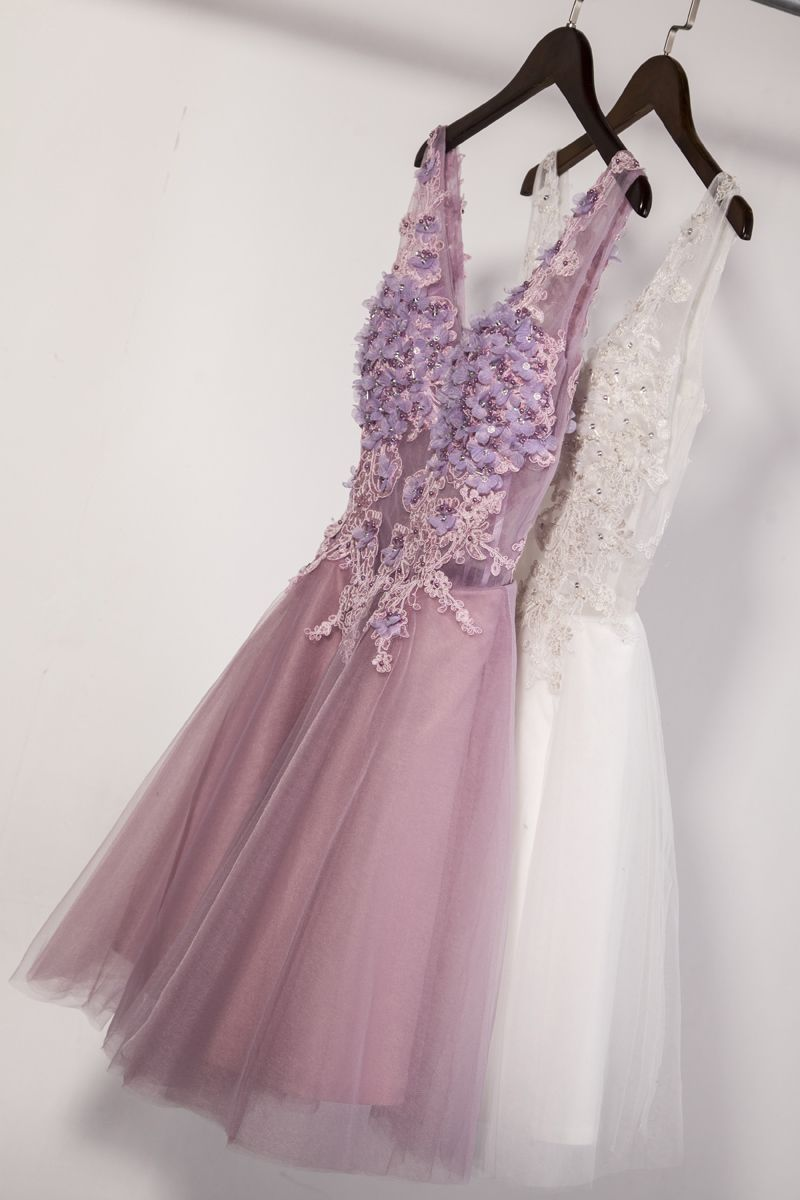 Dreamy short party dresses sexy vneck homecoming dresses with