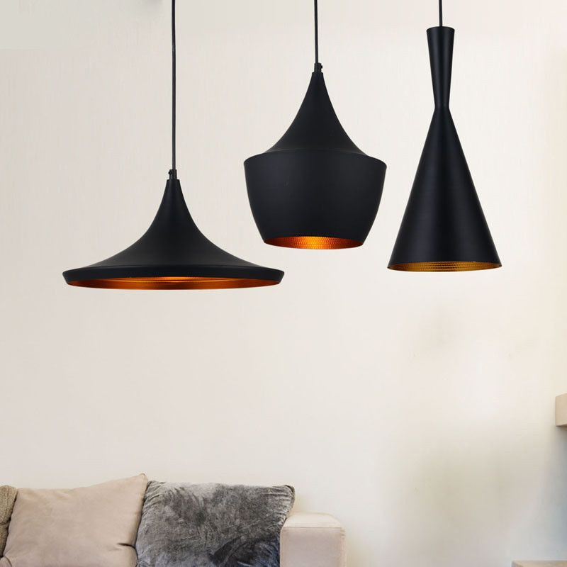 tom dixon style beat pendant lamp 3 pcs black tom dixon pendant lamps and toms. Black Bedroom Furniture Sets. Home Design Ideas