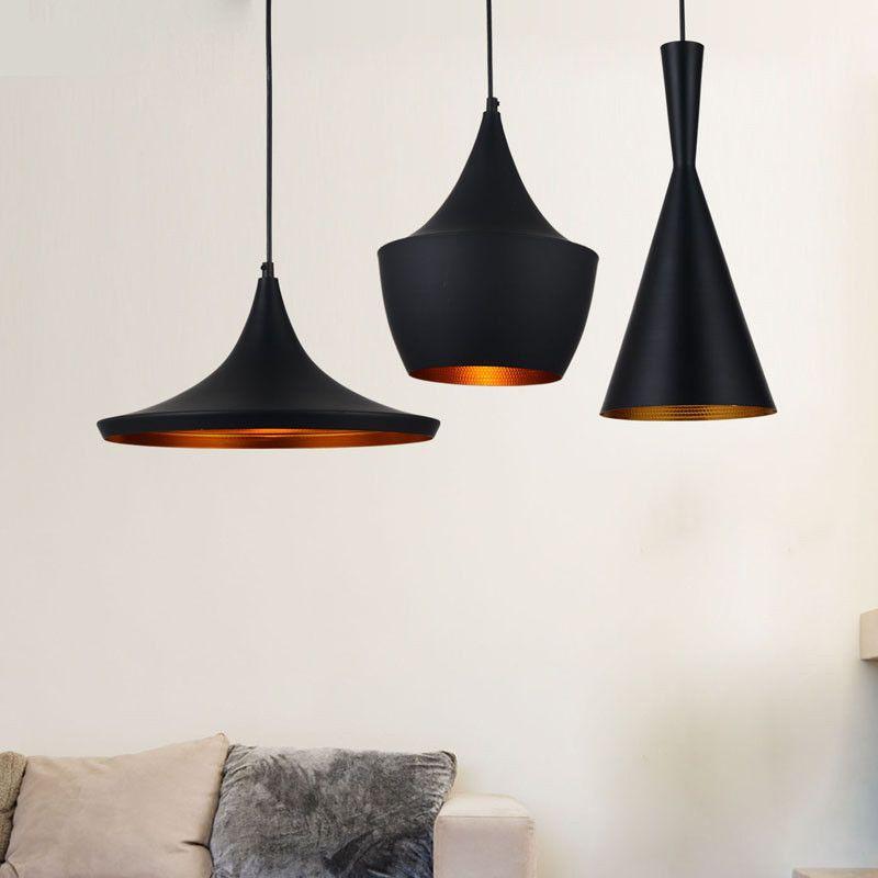 Tom Dixon Style Beat Pendant Lamp 3 Pcs./ Black | Tom ...