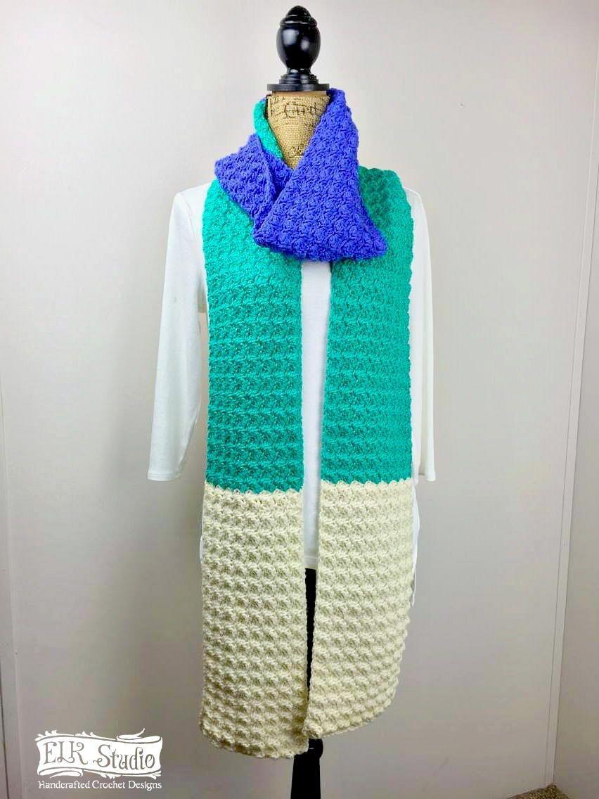 Jade Delight Scarf | Easy crochet scarf patterns, Crochet scarf ...