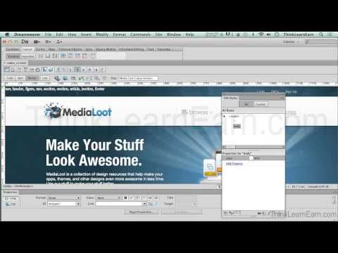 How To Use Adobe Dreamweaver Cs6 To Build A Complete Responsive Design Website For Mobile Responsive Website Design Responsive Design Adobe Dreamweaver