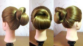 Tuto chignon facile Coiffure simple et rapide cheveux long (pour travail/collège) - YouTube ...