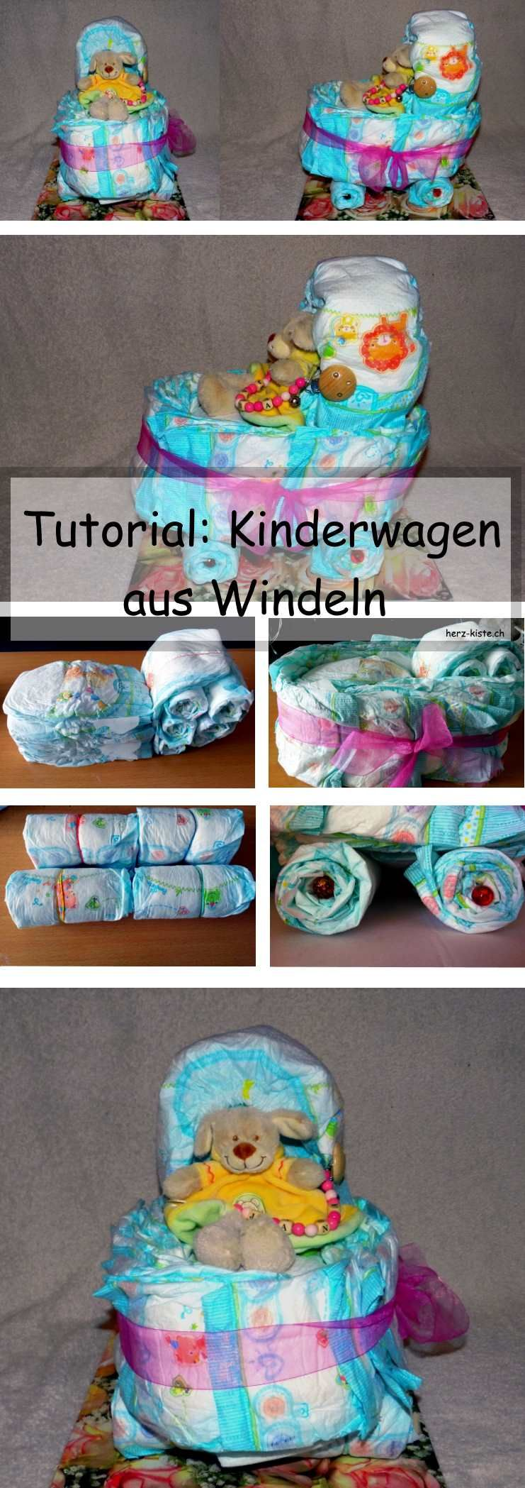 windeltorte mal anders ein windelkinderwagen diy projekte aus der herz kiste pinterest. Black Bedroom Furniture Sets. Home Design Ideas