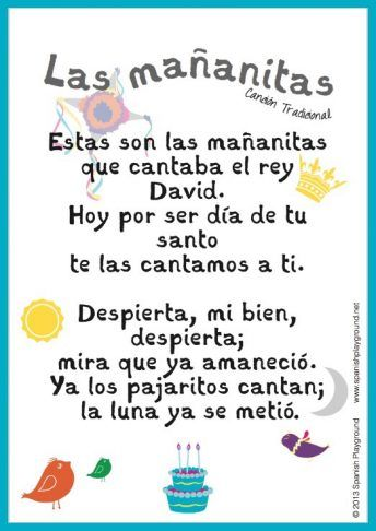 Las Mananitas Is A Traditional Happy Birthday Song In Spanish