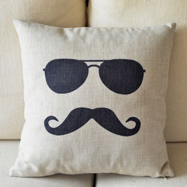 Mr. Moustache Pillow %u2013 $17 & Mr. Moustache Pillow | Pillows Printing and Room pillowsntoast.com
