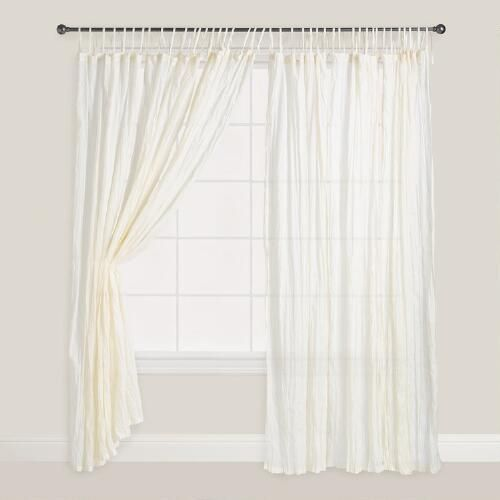 One Of My Favorite Discoveries At WorldMarket Natural Crinkle Voile Cotton Curtains