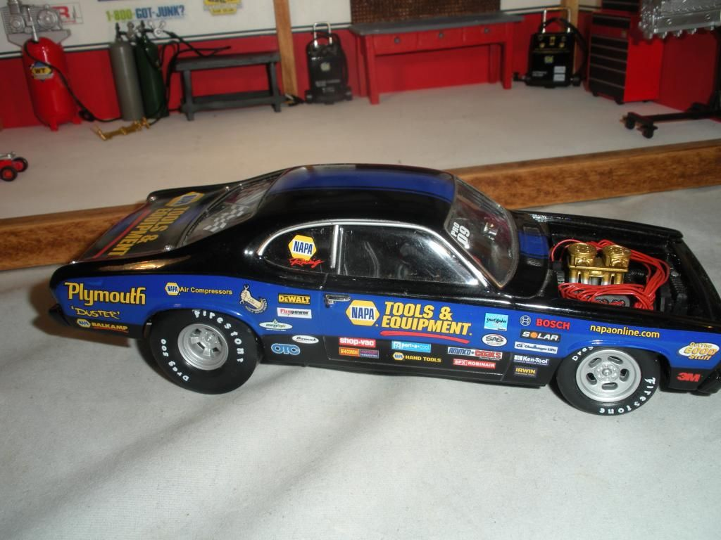 Mattel legends 1 24 1969 hot wheels twin mill concept car electronic - 1 24 Pro Stock 72 Or 73 Duster Dragster Made Only By Napa