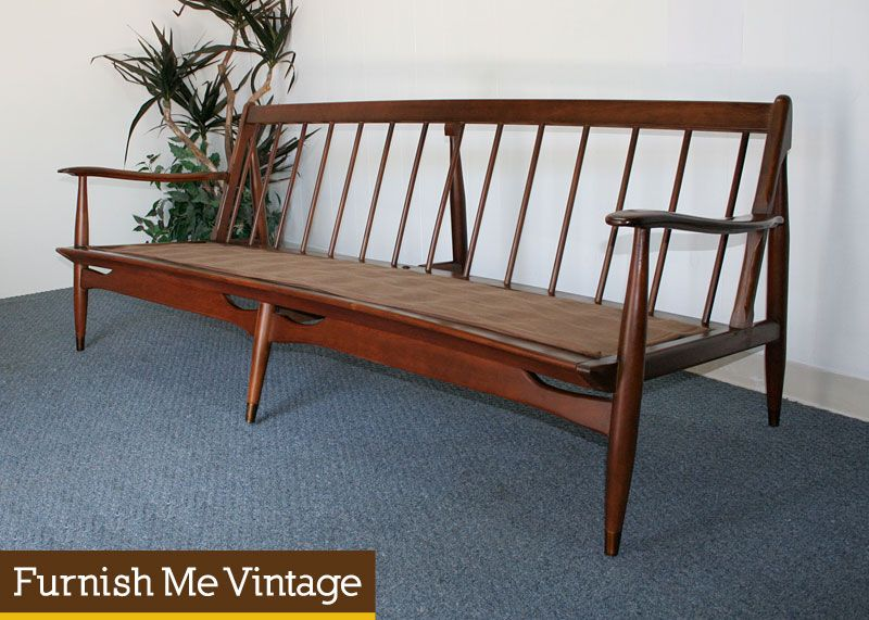 vintage wooden couch frame Mid Century Modern Danish Style
