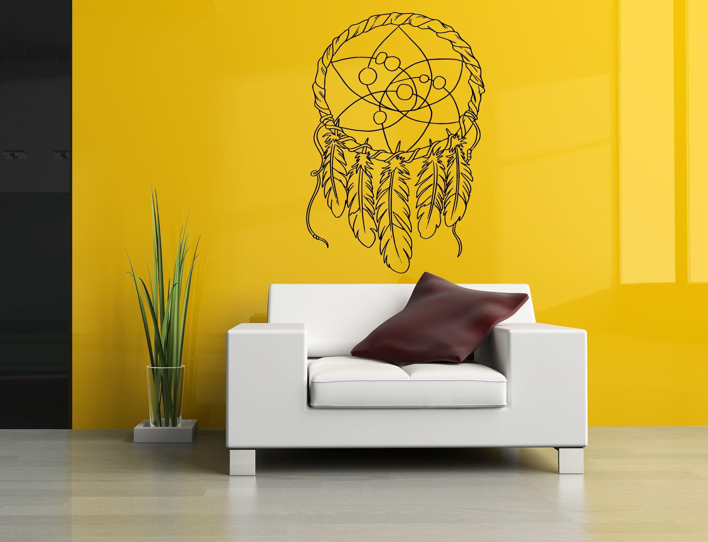 Wall Room Decor Art Vinyl Decal Sticker Mural Dreamcatcher Large Big ...