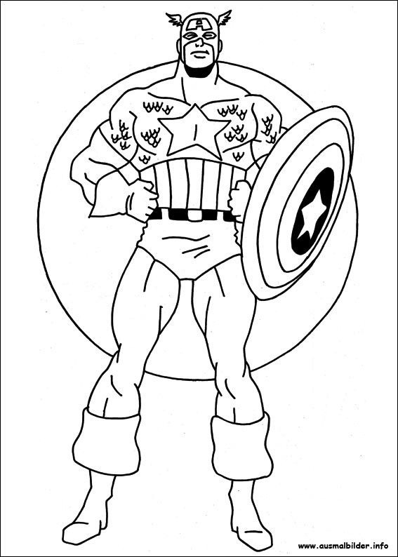 Pin Auf Captain America Ausmalbilder