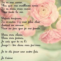 Poeme Amour Poeme Soeur Amitié Sincère Poeme Pour