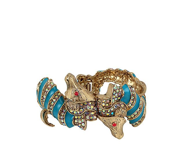 BETSEY AND THE SEA SEAHORSE BANGLE: Betsey Johnson
