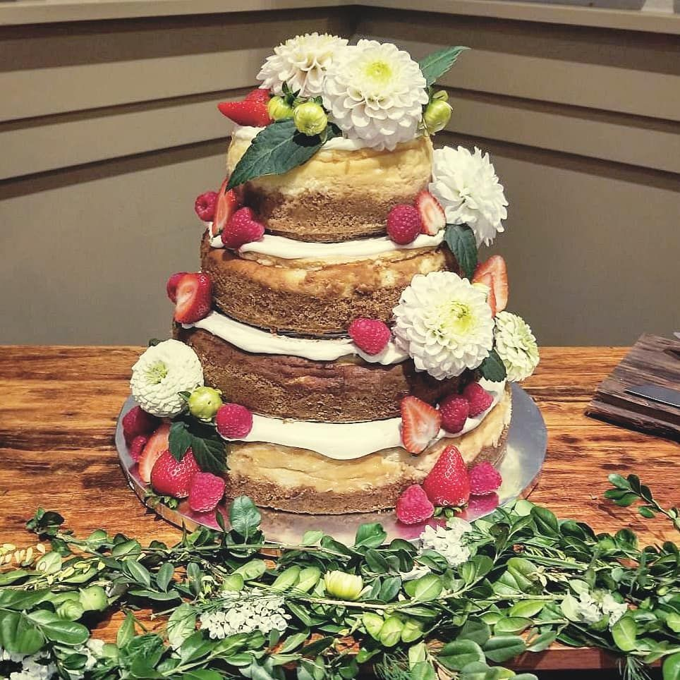 ❤4 tier cheesecake wedding cake❤  Made by @spicyborscht × ×