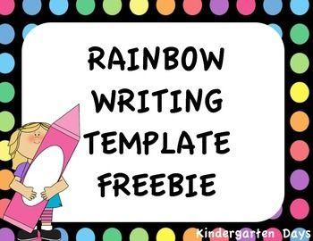 Rainbow Writing Template Rainbow Writing Rainbow Words Writing