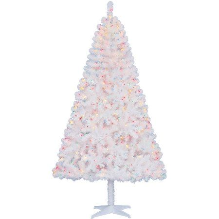 Holiday Time Pre Lit 65 Madison Pine White Artificial Christmas