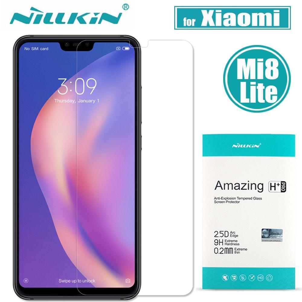 Xiaomi Mi 8 Lite Tempered Glass Xiaomi Mi8 Lite Screen Protector Nillkin 9h H Plus Pro Clear Protective Film For Xiaomi M Nillkin Phone Screen Protector Xiaomi
