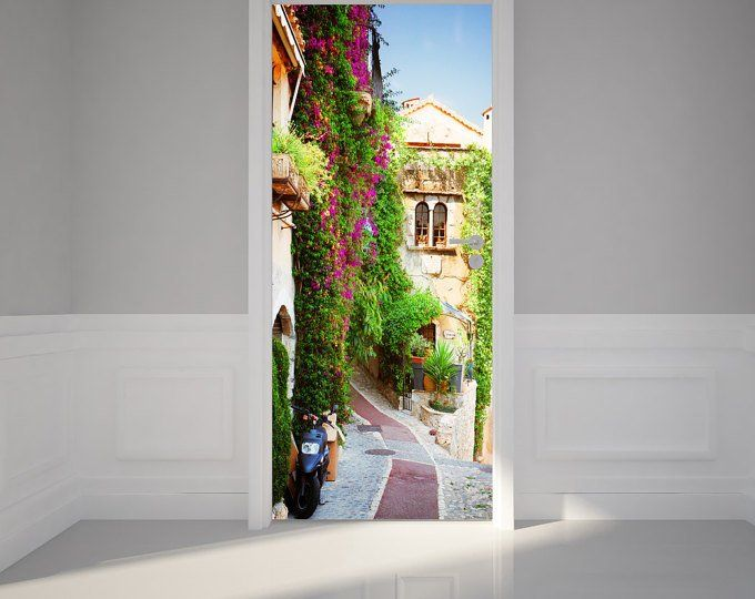 door wall sticker hallway in modern home peel stick on wall stickers for hall id=73304