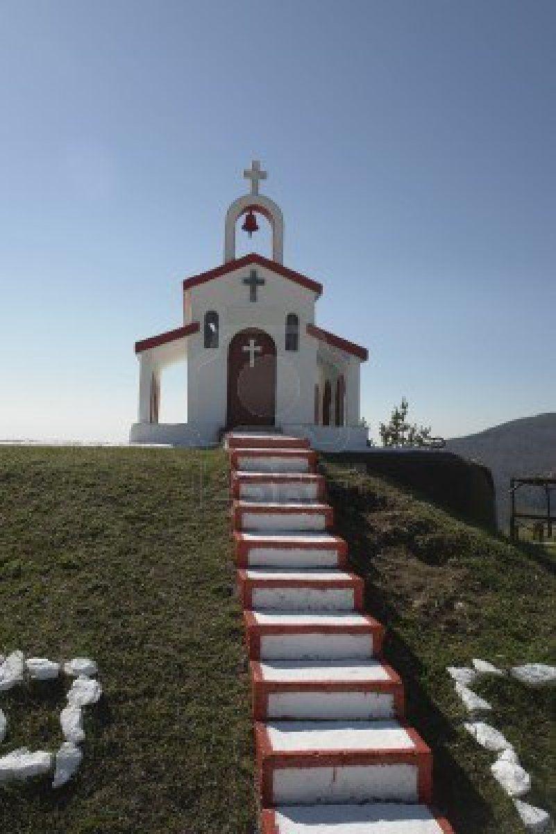 Small christian church in Greece