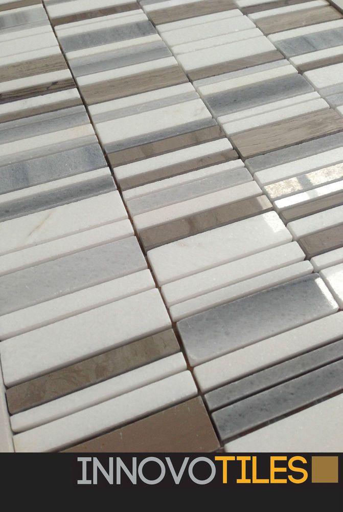 Innovo Snow White Carrara Marble Feature Mosaic Tile Bathroom Kitchen Splashback