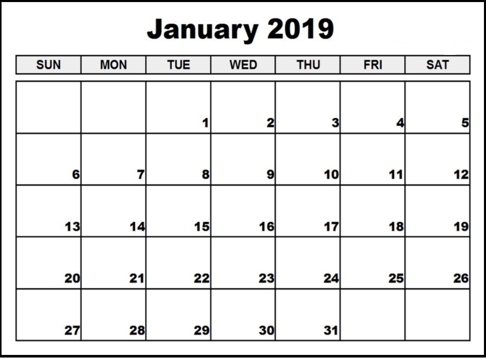 January 2020 Calendar In Pdf Word Excel Printable Template